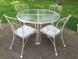 full size of vintage wrought iron patio dining set antique porch outdoor chair round table astonishing