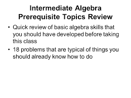 1 interate algebra prerequisite topics