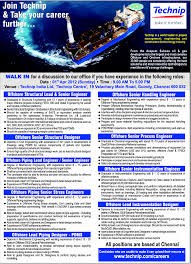 Pdms Piping Designer Offshore Lead Piping Designer Pdms Job In Chennai
