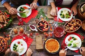 holiday dinner holiday meal stock photos and images 123rf