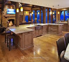 Mullet Cabinet Large Rustic Timber Frame Kitchen With Two - Huge kitchens