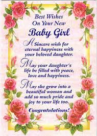 New Baby Girl Greeting Card Gifts Birthday Friends Family