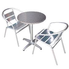 set new pro commercial series aluminium cafe bar table and chairs