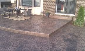 backyard concrete designs. Brilliant Designs Stamped Concrete Patio Designs And Deck Inside Backyard E