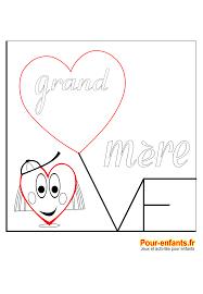 F Te Des Grands M Res Coloriage Love Imprimer Amour Grand M Re