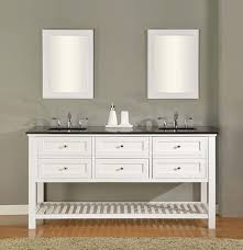 claremont double 70 inch pearl white transitional bathroom vanity with countertop options