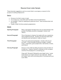 Best Resume Cover Letter Example Of A Resume Letter Resume Cover