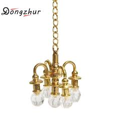dongzhur mini lamp chandelier dollhouse miniature furniture 1 12 doll house scene accessories can not light miniature chandelier small doll houses kids