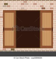open double door drawing. Open Wooden Double Door. - Csp35906334 Door Drawing R