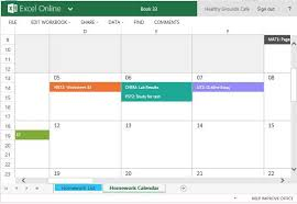 Homework Calendar Excel Color Code Your Homework And See It Reflected In The