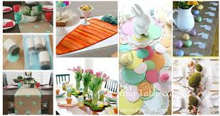 diy easter table runner ideas how to make an easter table runner in just a few minutes