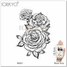 карандашный эскиз цветок временная татуировка женская рука черные рисунки