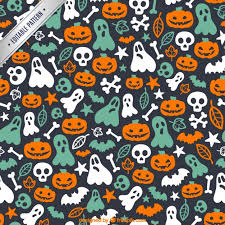 Halloween Pattern Delectable Cute Halloween Pattern Vector Free Download