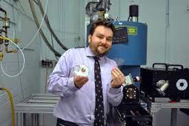 Ken Burch with Experiment Apparatus [image]   EurekAlert! Science News