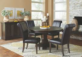 56 weber smokey black round top dining table table with black chairs 107282