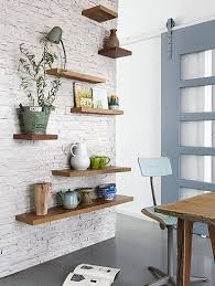 Floating Shelves On Brick Wall