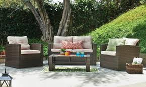patio set in a backyard