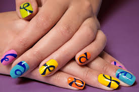 How to Create a Loopy Multi-Colored Manicure   Teen Vogue