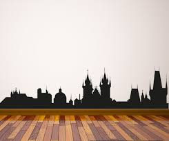 Small Picture Prague Skyline Vinyl Wall Decal or Car Sticker SS050EY