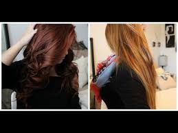 from red to light brown blonde without