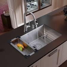 undermount kitchen sink stainless steel: vigo all in one undermount stainless steel  in single bowl kitchen sink in stainless steel vg the home depot