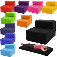 Cube Sofa Bed Minimalist Design Single Seater Style Made Only From With  Soft Cotton Armless Foldable Convertible Into Sleeper Available In Various  Colour