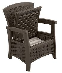 chair with storage. suncast elements club chair with storage