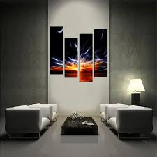 living room art 4 piece canvas wall art abstract decor abstract artwork  on large 4 piece wall art with 4 piece wall decor crescent moon large pictures orange abstract
