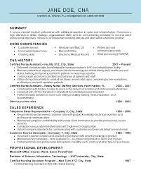 Example Cna Resume Pointrobertsvacationrentals Com