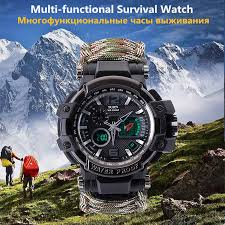 New <b>Outdoor Multi function Survival Watch</b> EDC Camping Hiking ...