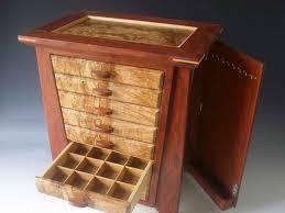 handmade exotic wood jewelry box made bubinga burl