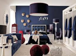 Teens Room Designs Ideas, Kids Decor Small Boys Bed Room Decorating Ideas  Teenage Architecture Inspirations Spacious White And Blue Denim Themed Boys  ...
