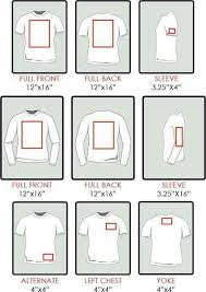 Chart Re Sizing Of Decals For Shirts Silhouette Cricut