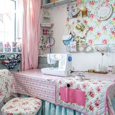 office craft room ideas. Craft Room With Pretty Floral Furnishings Office Ideas