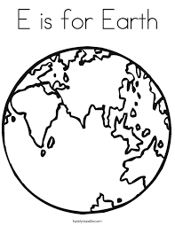 Small Picture E is for Earth Coloring Page Twisty Noodle