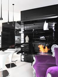 Purple Living Room Design Century Living Room Design With Wooden Furntiture Furniture