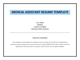 Medical Assistant Objective Statement Objective For Resume Medical Assistant Plus Radio Info