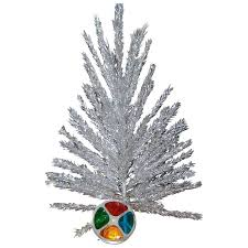 Vintage Aluminum Christmas Tree And Color Wheel Original Boxes The