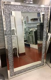 mirrored furniture wall mirrors new crush sparkle crystal wall mirror cm x cm instock for fast deliver