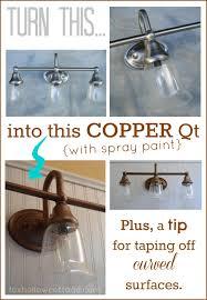 rustoleum metallic vintage bronze light fixture makeover tutorial tip