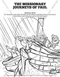 Small Picture Pauls Missionary Journeys Sunday School Coloring Pages Sunday