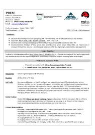 Resume Format For Ccna Freshers It Resume Cover Letter Sample