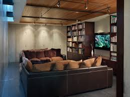 industrial track lighting. perfect track seattle track lighting kits home theater industrial with poured concrete  walls bar stools and counter steel girders intended industrial track lighting