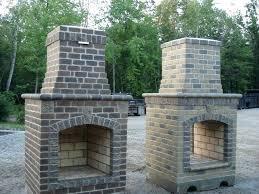 build brick outdoor fireplace your own uk backyard