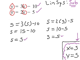 linsys substitution slope intercept form for both equations substitution algebra slope intercept form showme