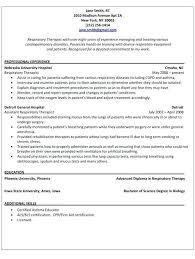 Certified Respiratory Therapist Resume
