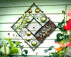 exterior wall art metal exterior wall art metal outdoor decor flower outside for round met