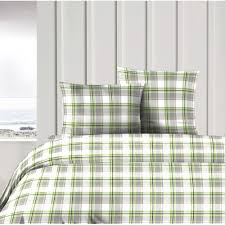 design port anglesey pure cotton green and grey tartan check duvet cover