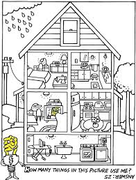 Energy Saving Puzzle Coloring Page Energy Coloring Pages