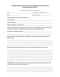 High School Book Report Printable Review Template Middle Free Forms